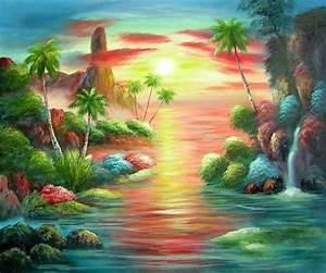 Tableau Trompe L Oeil Paysage : peinture tableau paysage mer recherche google trompe l 39 oeil peinture paysage de mer ~ Melissatoandfro.com Idées de Décoration