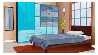 Cartoon Bedroom Clip A...