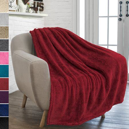 pavilia plush sherpa throw blanket  couch sofa fluffy