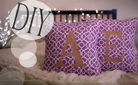 Diy Monogrammed Cute Pillowcases {no Sew & Sew} How-to