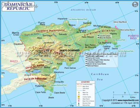 dominican republic map  cities travelsfinderscom
