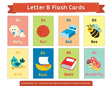 Printable Letter B Flash Cards