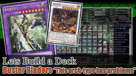 let s build the buster blader deck deck building