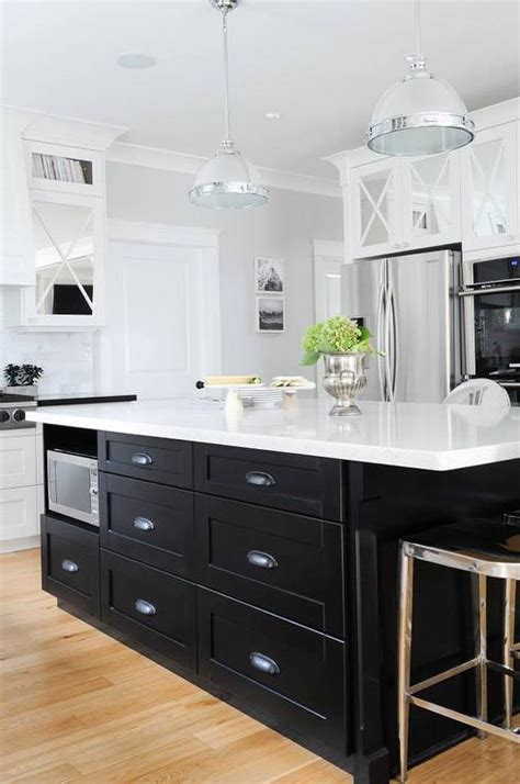 kitchen with black island black kitchen island with black cup pull hardware 6495