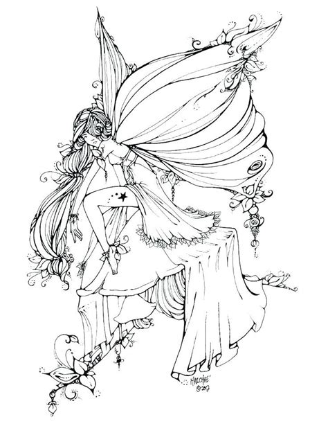 Fairy Coloring Pages for Adults Fairy coloring pages