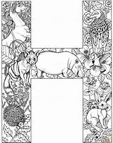 Coloring Pages Printable Fonts Letter Alphabet Animal Animals Script Adult Names Colouring Cc Dd Books sketch template