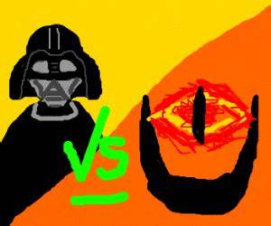 Darth Vader vs Sauron - Drawception