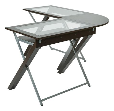 Product Of The Week A Desk L With A Mid Air Suspended Switch by L Shaped Computer Desk With Glass Top Ergoback