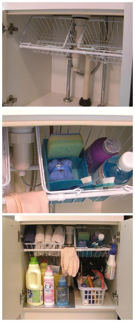 kitchen sink organizing ideas 20 clever kitchen organization ideas wire basket
