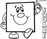 Coloring Square Pages Square4 Rectangle Print Coloringway sketch template