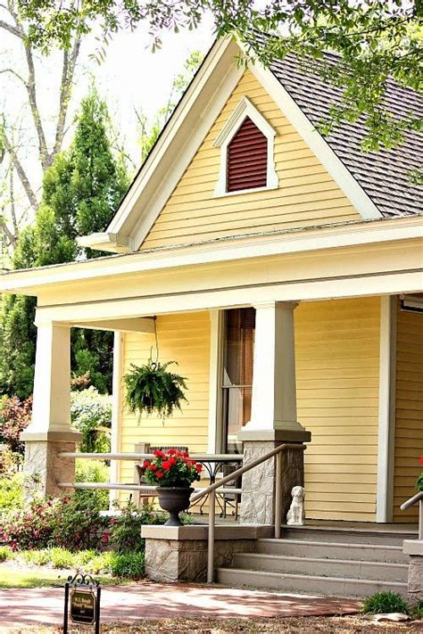 Craftsman Style Porches And Columns olive out porch house cottages pinterest yellow