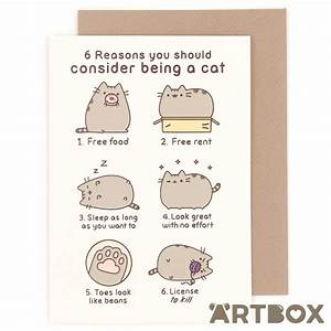 Pusheen Birthday Card – gangcraft.net