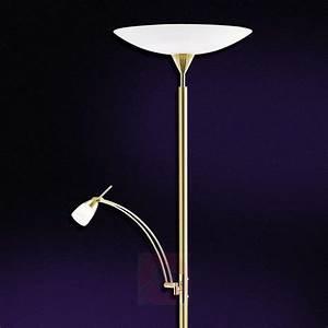 Halogène Led Sur Pied : lampadaire led pearl avec liseuse laiton ~ Teatrodelosmanantiales.com Idées de Décoration