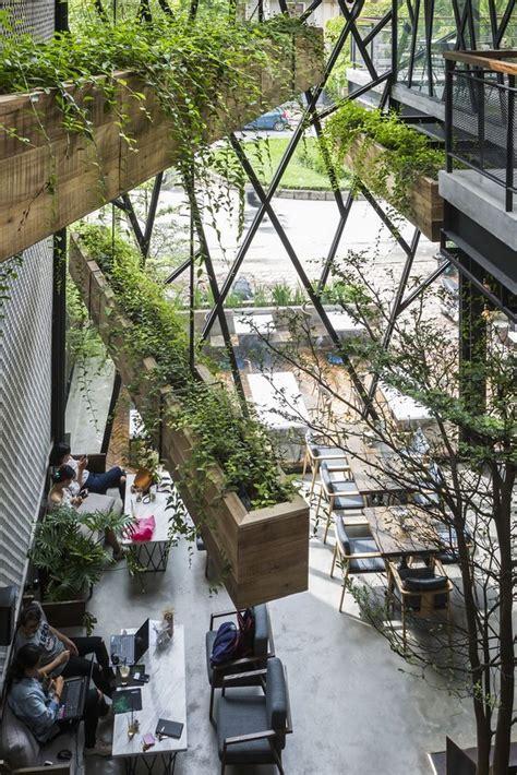Tân quý, quận tân phú. Steel-Framed Café Becomes Hanging Garden in Vietnam | Garden cafe, Cafe design, Green cafe