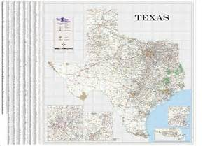 Large Texas Wall Map