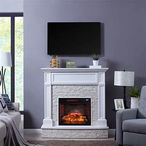 Nifyre, Faux, Stone, Infrared, Media, Fireplace, Transitional, White, -, Walmart, Com