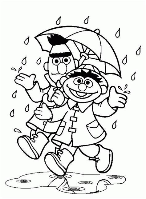 Spring Rain Coloring Pages - AZ Coloring Pages