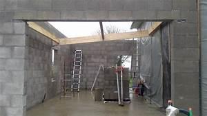 charpente du garage toit plat auto construction de With construction garage toit plat