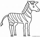 Coloring Zebra Animals Zebras Activity sketch template
