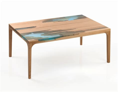 Wood And Resin Furniture Inspired By Selfhealing Trees