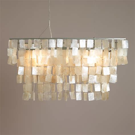 rectangular capiz hanging pendant lantern world