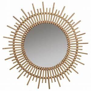 Miroir En Rotin : grand miroir soleil en rotin brin d 39 ouest ~ Nature-et-papiers.com Idées de Décoration