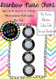 Our Classroom Noise Level Chart For Push Lights By