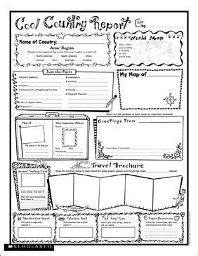 Cool Country Report: Fill-In Poster | Printable Graphic