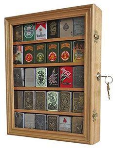 diy  crafts images zippo lighter display case