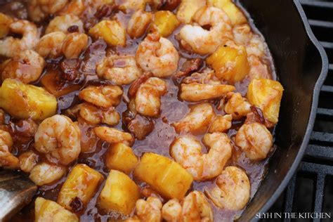 bbq pineapple shrimp slyh   kitchen