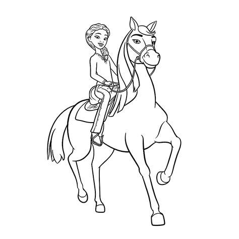 Ree Kleurplaat by Leuk Voor Pru Met Haar Paard Chica