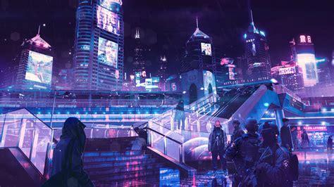 1080p Neon City Wallpaper 1920x1080 cyberpunk neon city laptop hd 1080p hd 4k