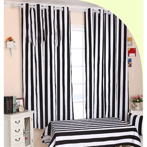 and white striped curtains funky black and white striped curtains of cotton fabric