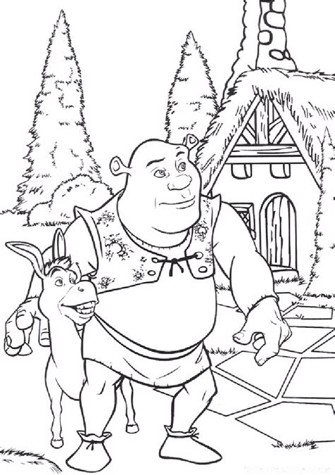 shrek coloring pages coloring pages  print