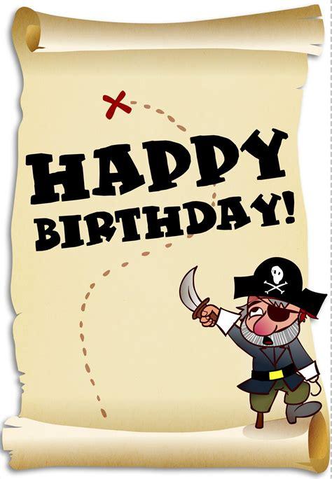printable birthday pirates greeting card craft