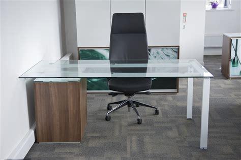 glass top office desk with glass top office furniture brubaker desk ideas