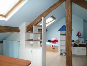 Chambre Sous Les Combles : chambre sous combles elegance rangement ~ Melissatoandfro.com Idées de Décoration
