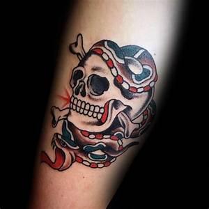 53 Traditional Skull Tattoo Ideas About Skull - Golfian.com