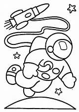 Astronaut Coloring Pages Preschool Worksheets Crafts Kindergarten Comment sketch template