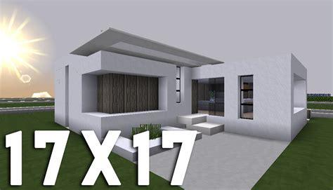 minecraft tuto construction maison moderne en 17x17