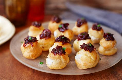 canapes recipes goat 39 s cheese choux buns tesco food