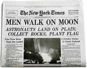 Newspaper Article About Neil Armstrong Walking On the Moon ...