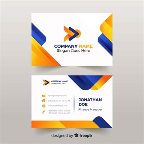 business card cdr template free abstract business card template vector free