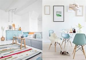 une touche de bleu ciel dans la deco joli place With couleur pastel pour salon 6 un salon vintage le blog deco de maisons du monde