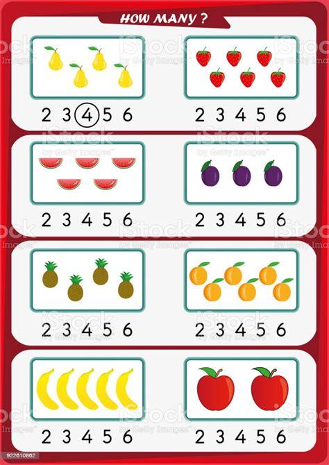 worksheet  kindergarten kids count  number