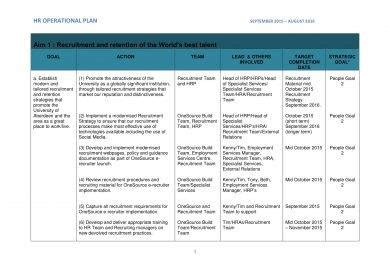 simple operational plan examples  word examples