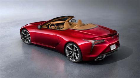 lexus lc convertible debuts  la news