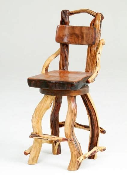 Log Stool - there is nothing like the character of colorful and twisty