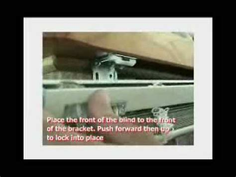 how to remove blinds from window installing a venetian blind into brackets