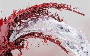 Red and white colors splash abstract wallpapers HD